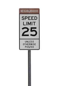 25 mph Sign
