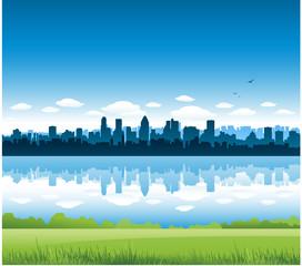 Montreal city landscape