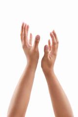 Worship gesture hand