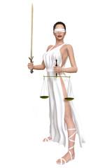 Justitia Waage Schwert 3