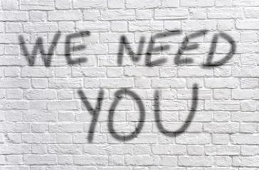 We need you graffiti