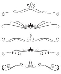 Collection of ornate decoration dividers