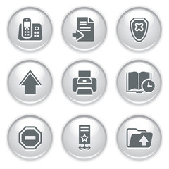 Gray web buttons 4