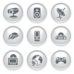 Gray web buttons 21