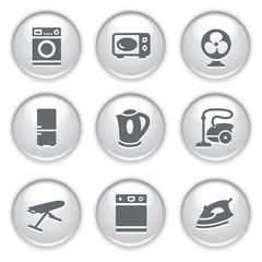Gray web buttons 18