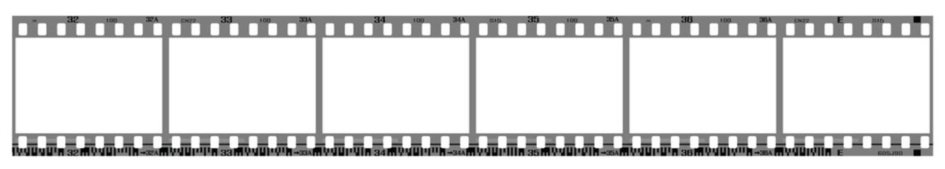 negative filmstrip frames