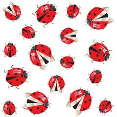 seamless with ladybirds