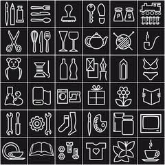 Piktogrammen Einzelhandel Weiß