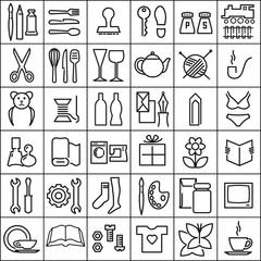 Piktogrammen Einzelhandel Schwarz