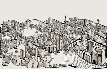 Florence city drawing