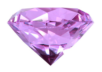 Singe puple crystal diamond