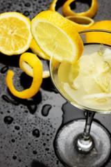Natural lemonade in cocktail glass