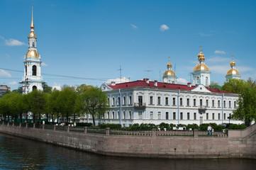Sightseeing of Saint-Petersburg city, Russia.