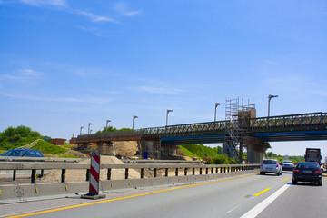 Autobahn Baustelle