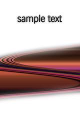Gebogene farbige Streifen mit Platz für Text