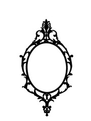 Frame in silhouette