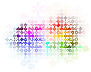 Abstract Flower Spectrum Background Vector