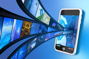 Mobile video. Hi-res digitally generated image.