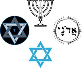 The jewish religious and magic symbols