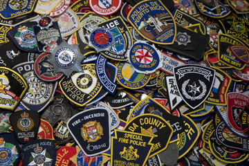 Police and fireman badges