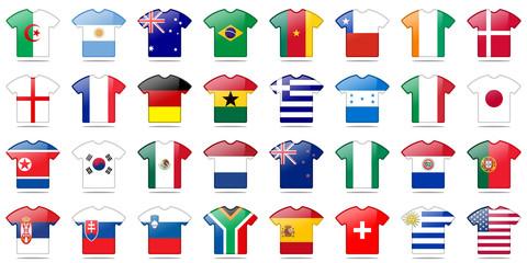 tenue drapeau coupe du monde 2010