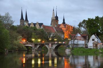 Poster - Domblick auf Schloss und Dom zu Merseburg an der Saale
