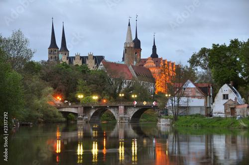 Fototapete Domblick auf Schloss und Dom zu Merseburg an der Saale