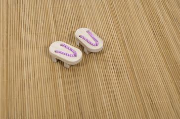 Geta Sandals on Grass Mat