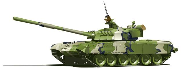 Fotorolgordijn Militair modern heavy tank