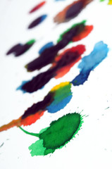 Abstract Paint Water Color Art