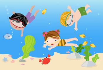 Tropical holidays, vector illustration