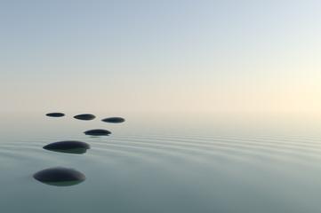 Fototapete - Zen Stones
