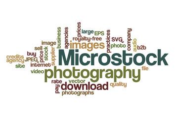 Microstock photography - Word Cloud