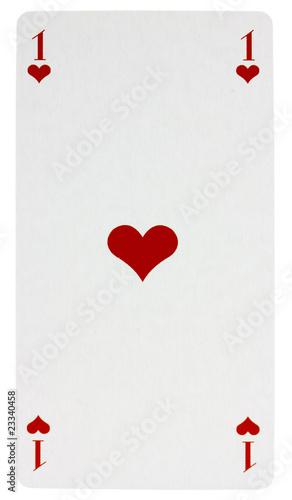 carte de tarot as de coeur fond blanc photo libre de. Black Bedroom Furniture Sets. Home Design Ideas