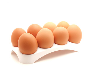 Eggs on a support