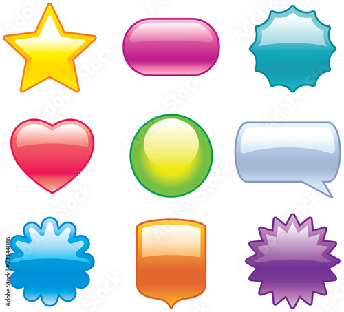 Set of glossy icons web 20 vector buttons and shapes stock set of glossy icons web 20 vector buttons and shapes sciox Choice Image