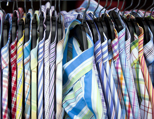 collorfull shirts on the market