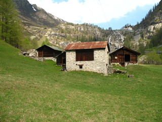 Old barns in Formazza