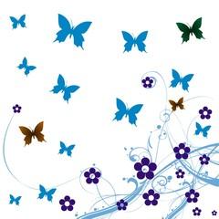 abstraction de papillons