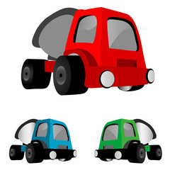 Dump trucks. Vector illustration