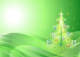 Natale Sfondo Astratto-Fractal Christmas Background-2