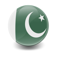 Esfera brillante con bandera Pakistan
