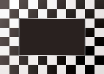 checkered mono picture frame