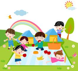 Poster Regenboog Kids Time