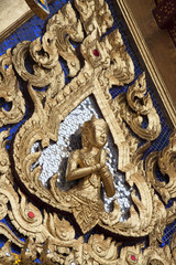 Architecture detail in the Emerald buddha temple, Thailand