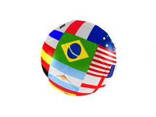 Ball of world soccer cup