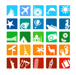 Tourism and vacation icons
