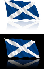 Scottish Flag Flowing