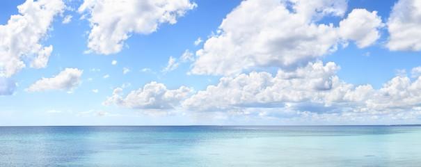 Tropical blue sky panorama XL
