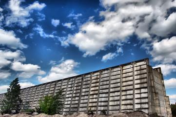 Lost city.Near Chernobyl area